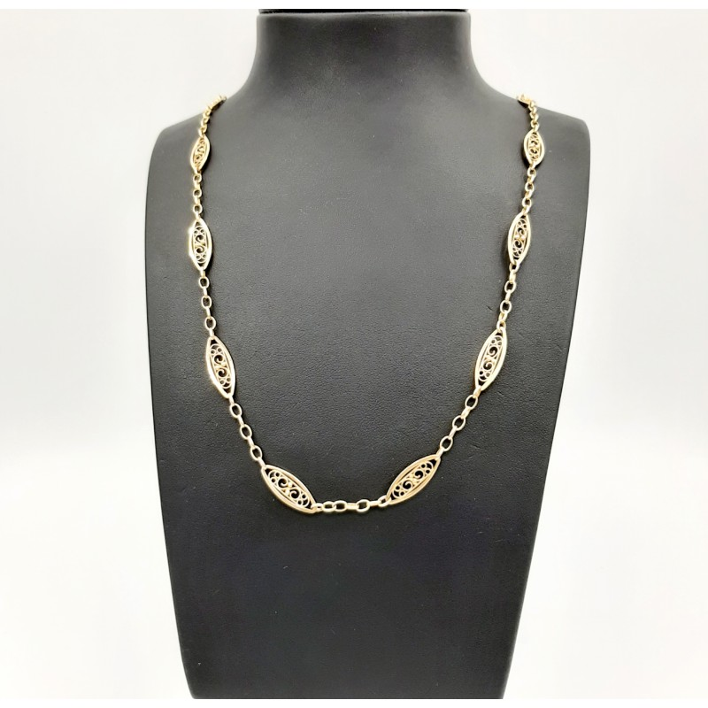 Collier Maille Filigrane Or...