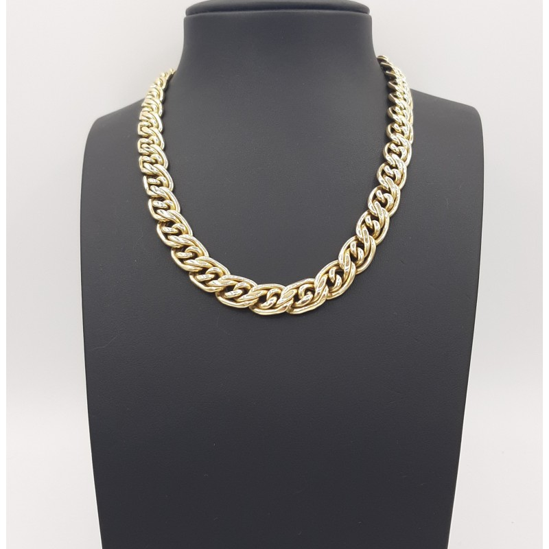 Collier Maille Alternée Or...