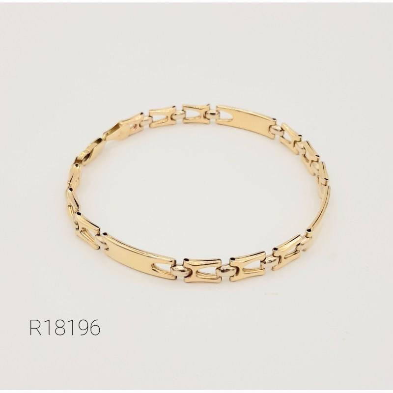 Bracelet Maille Alternée Or...