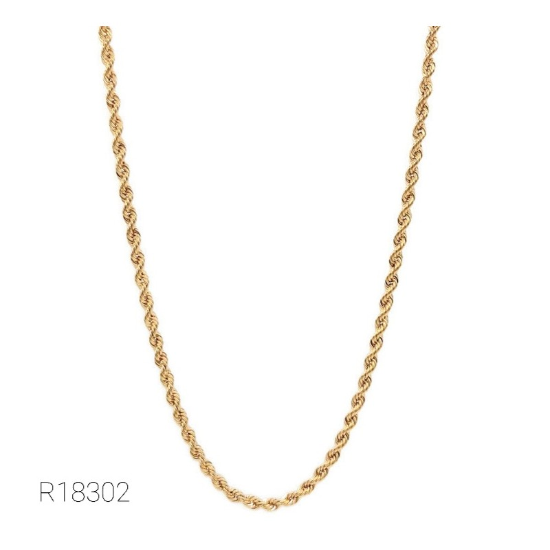 Collier Maille Corde Or 18K...