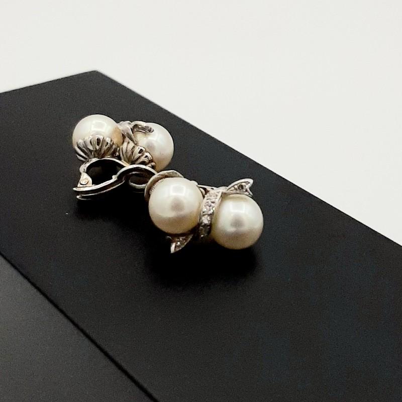 Boucle d'Oreilles Or Blanc...
