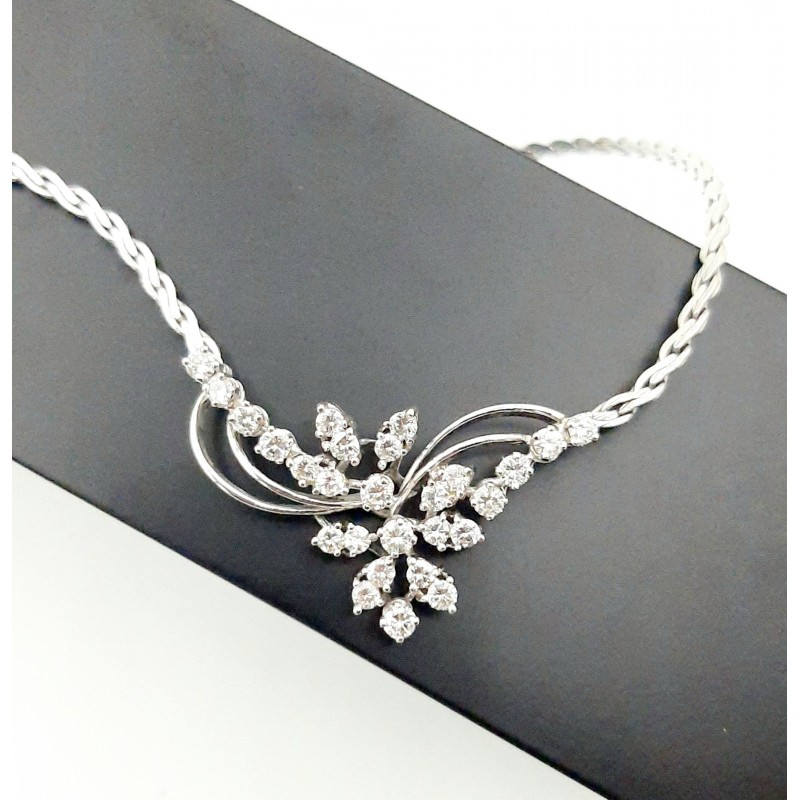 Collier Maille S Or Blanc...