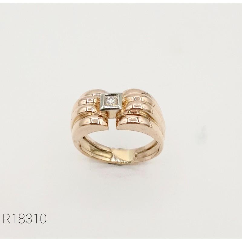 Bague Vintage Or 18K & Diamant