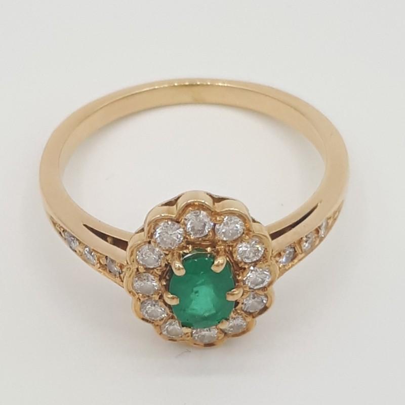 Bague Emeraude+Diamants