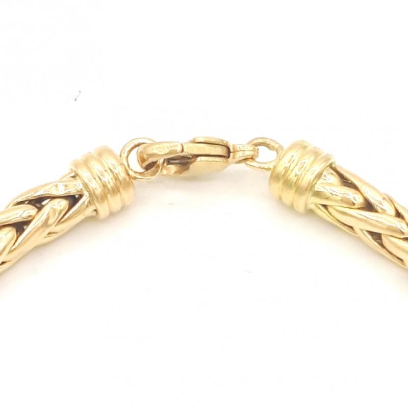 Bracelet Maille Palmier Or 750