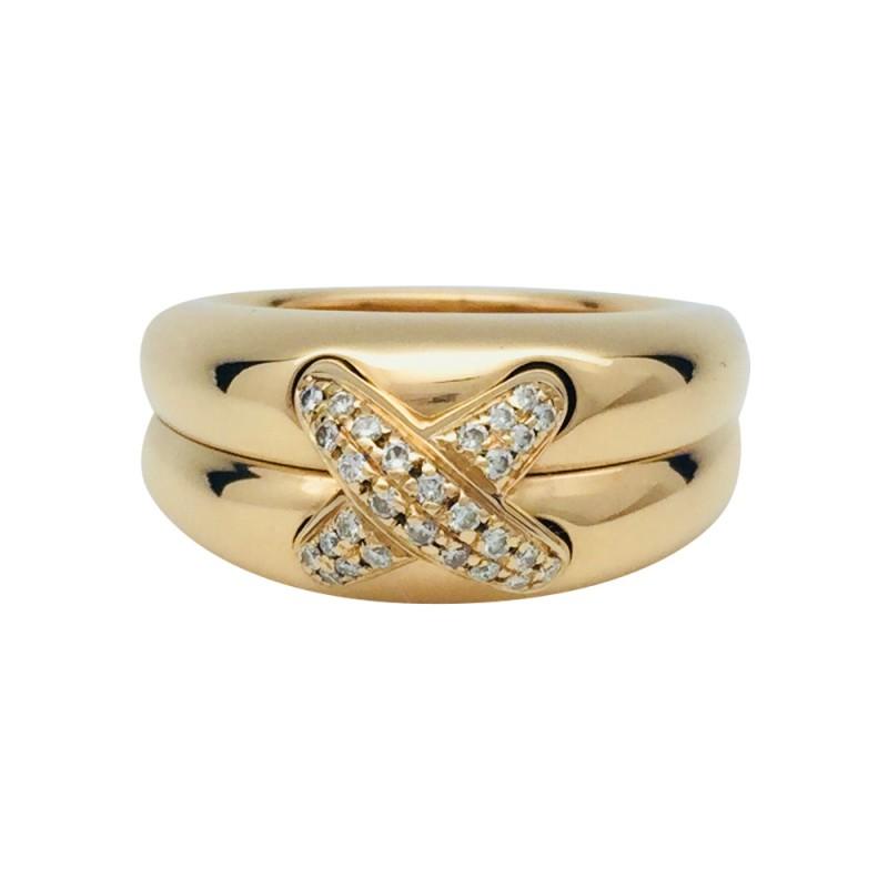 """CHAUMET Bague """"Liens"""" or jaune et diamants"""