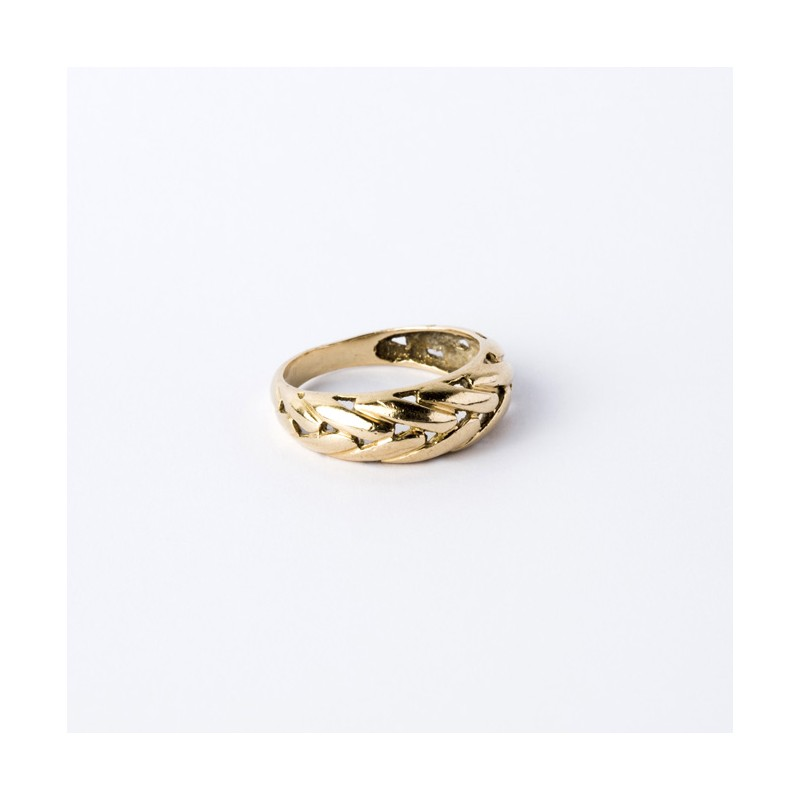 Bague Or 18K Maille palmier
