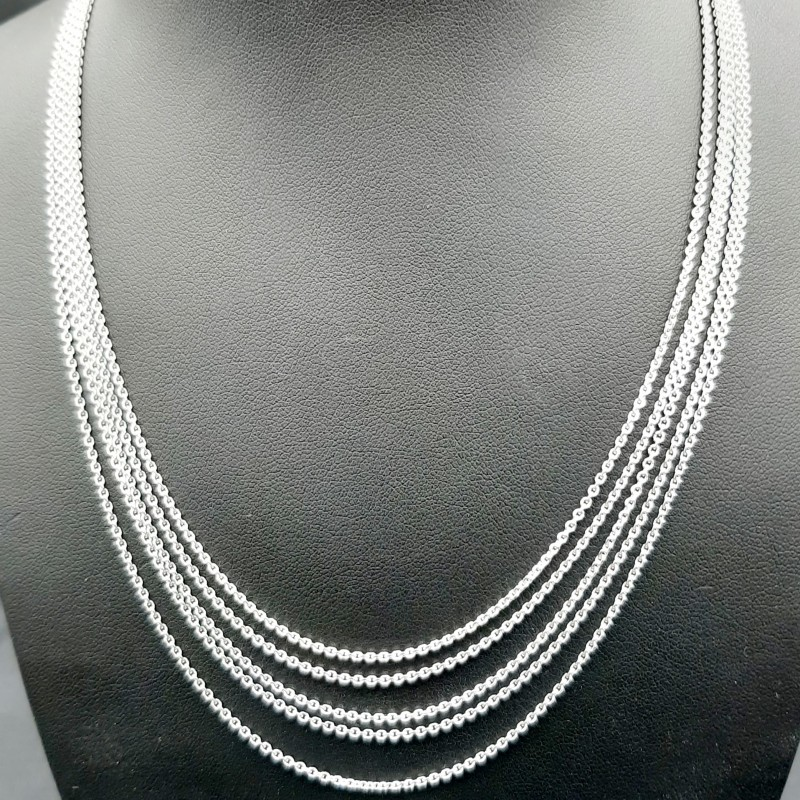 Collier Sautoir OR blanc
