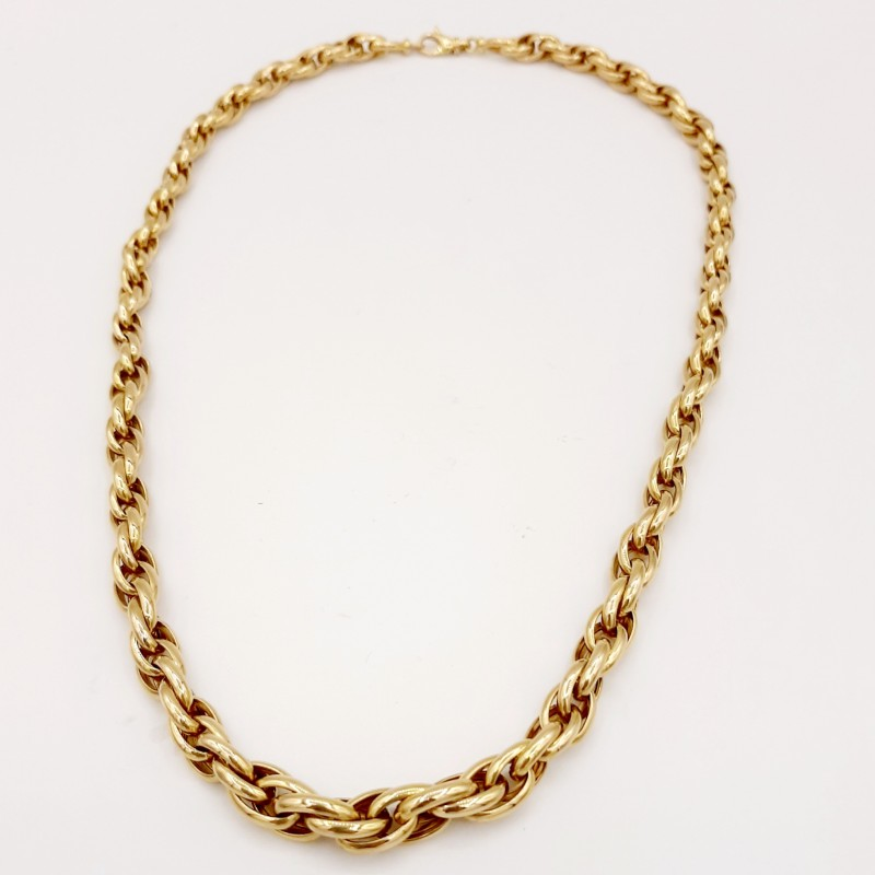 Collier or 18k maille Jason
