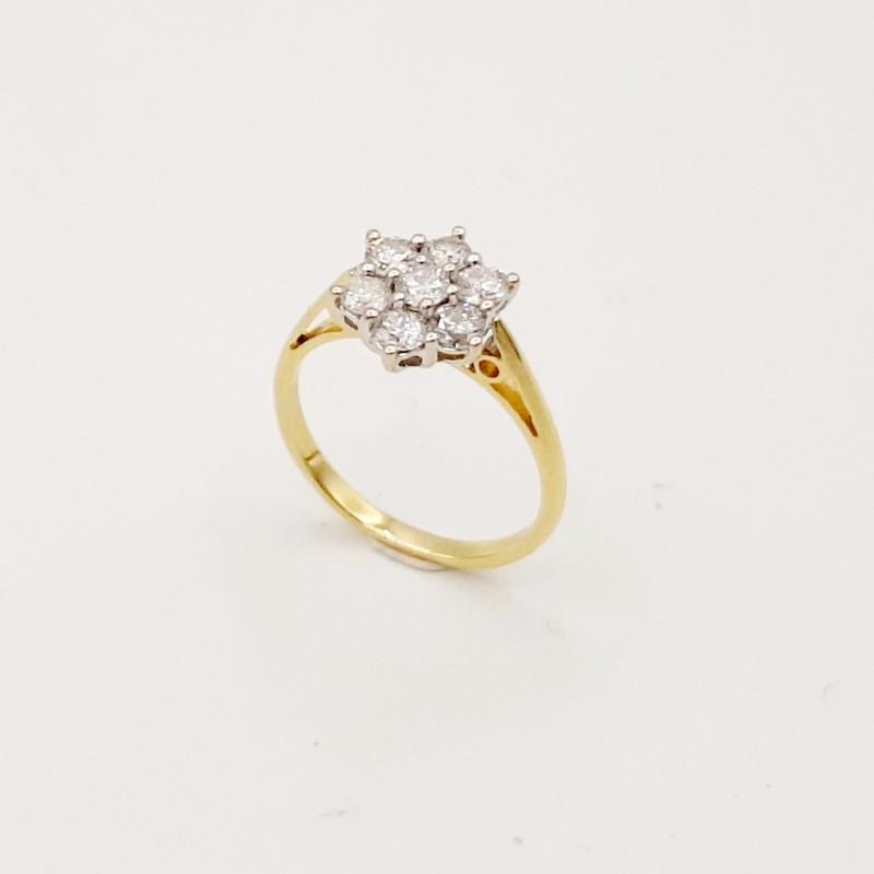 Bague Or Jaune 18K et Diamants
