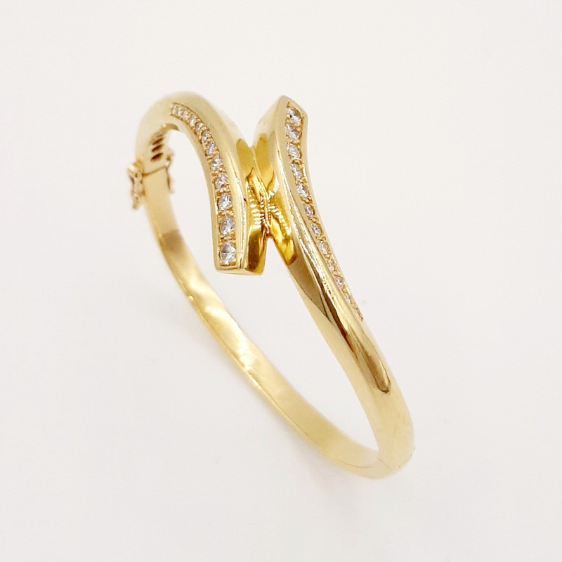 Bracelet Jonc Or et Diamants