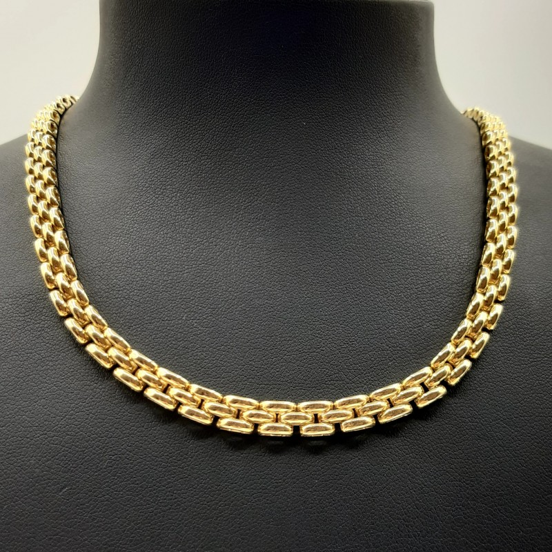 Collier Or jaune Maille Plate