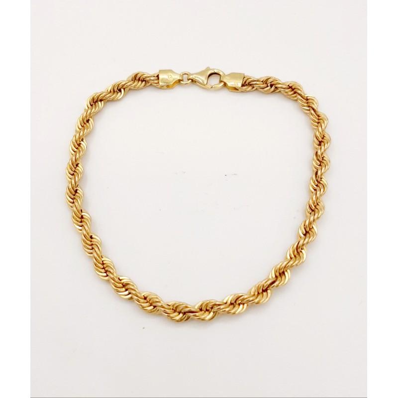 Bracelet Maille Torsadée Or...