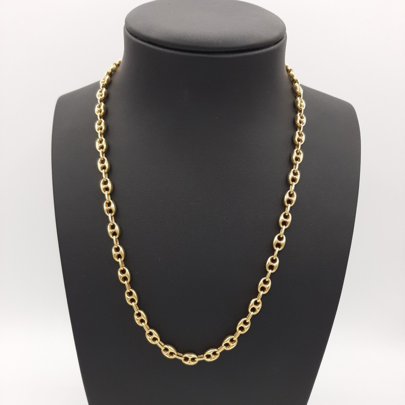Collier Grain de Café Or Jaune