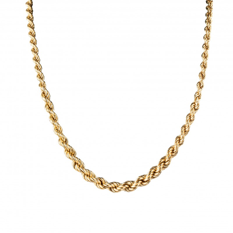 Collier Maille Torsadé Or 18 K