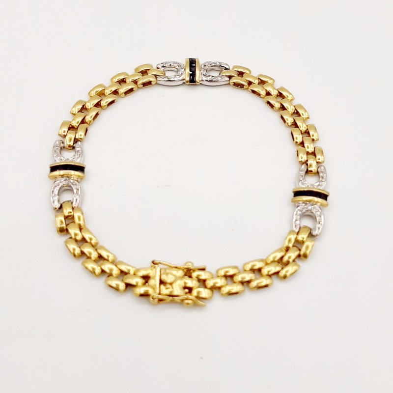 Bracelet Or Jaune Diamants...