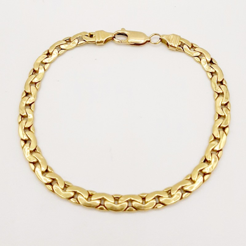 Bracelet Maille Haricot Or...