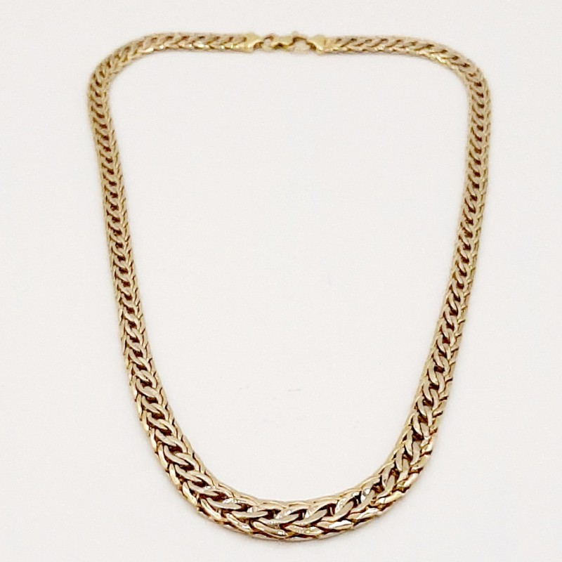 Collier double maille allongée