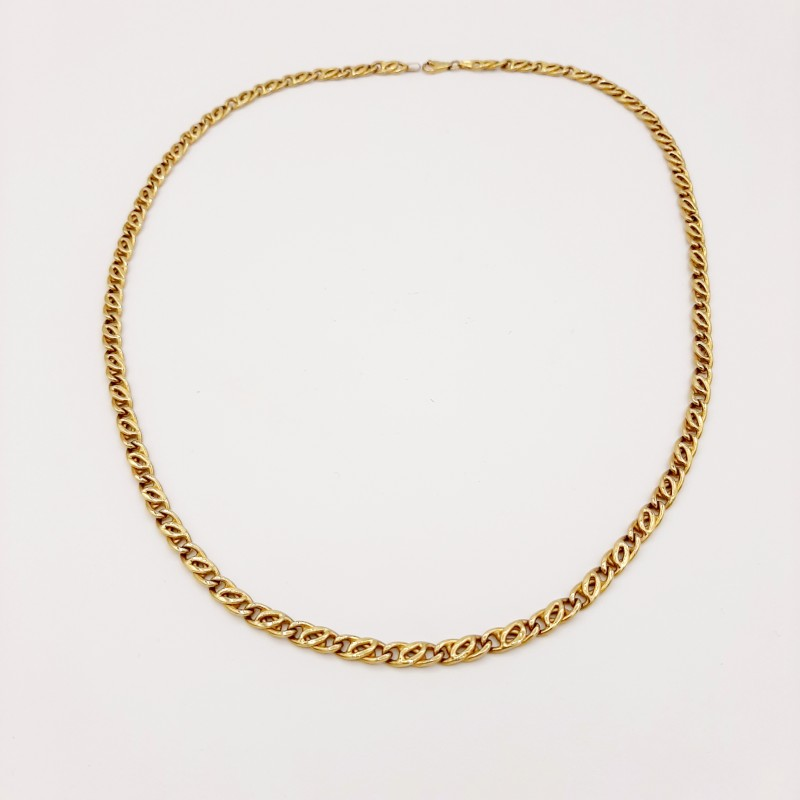 Collier maille alternée 18 K