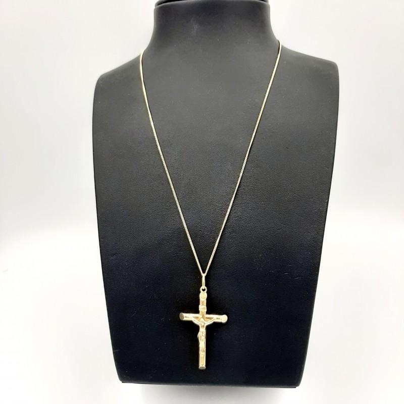Chaine et Croix or Jaune